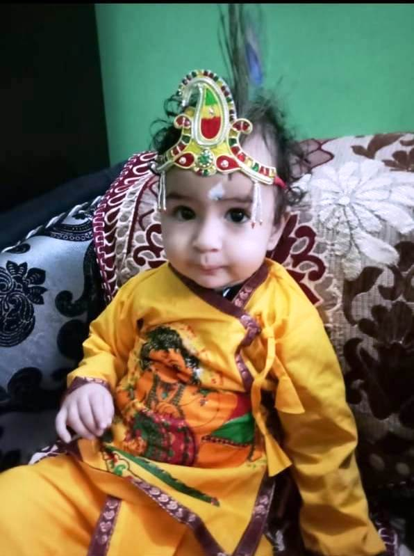श्री कृष्ण जन्माष्टमी पर अभिमन्यु डोगरा का चित्र