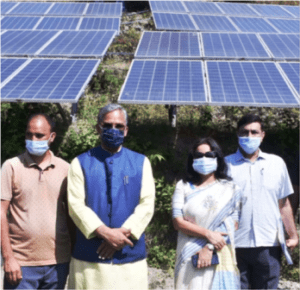 Amod Panwar adopted self-employment by setting up 200 kw solar plant at Tipri, CM inaugurated