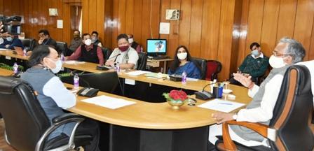 मुख्यमंत्री ने ली सचिवालय में राज्य व्याधि सहायता निधि के संचालक मंडल की बैठक