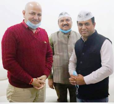 AAP's Amendra: Big shock to Congress in Dhanaulti