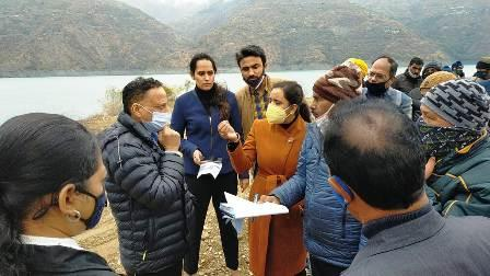Tourism Secretary Javalkar inspected the land of Dobra Chanti Bridge and Taint Colony