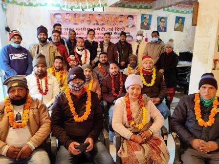 Announcement of new executive of city congress in New Tehri