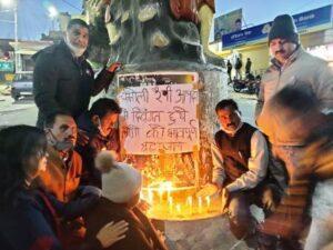 कैंडल मार्च निकाल कर टिहरी कोंग्रेस ने रैणी आपदा की दिवंगत आत्माओं को दी श्रद्धांजलि