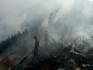 सुुरकुट पर्वत के चारों तरफ आग ही आग