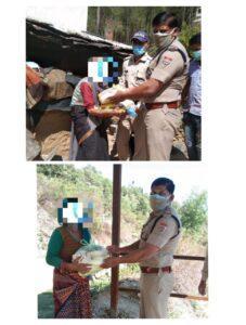 मिशन हौसला: राशन किट बांटकर जरूरतमंदों की मदद कर रही है टिहरी पुलिस
