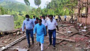 उच्च शिक्षा मंत्री डॉ. धन सिंह रावत ने किया निर्माणाधीन व्यावसायिक महाविद्यालय पैठाणी का निरीक्षण