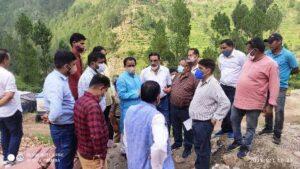 निर्माणाधीन राजकीय व्यावसायिक महाविद्यालय पैठाणी के निर्माण कार्य का उच्च शिक्षा मंत्री डॉ. धन सिंह रावत द्वारा निरीक्षण किया गया।