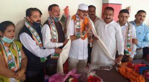 उत्तराखंड प्रदेश कांग्रेस चुनाव प्रबंध समिति के सदस्य कांग्रेस के पूर्व जिलाध्यक्ष सूरज राणा का कांग्रेस जनों ने किया भव्य स्वागत