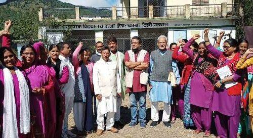 आंगनबाड़ी कार्यकत्रियों के आंदोलन को गजा कांग्रेस ने दिया समर्थन, 20वें दिन भी जारी रहा धरना
